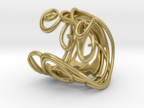 Ring Art déco Style in Natural Brass: 8 / 56.75
