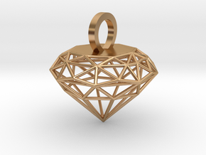 Wire Diamond Pendant in Polished Bronze