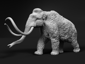 Woolly Mammoth 1:45 Walking Male in White Natural Versatile Plastic