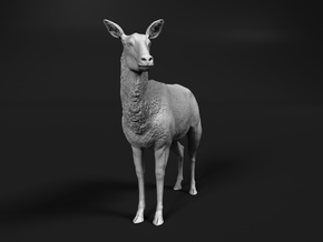 Waterbuck 1:22 Standing Female in White Natural Versatile Plastic