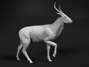 Waterbuck 1:22 Walking Male in White Natural Versatile Plastic