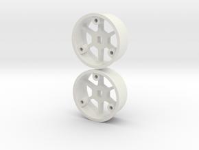 "4WD - ""No glue !"" - Ø20mm / +2 in White Natural Versatile Plastic"