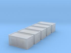 1:400 Portakabin 5x in Smooth Fine Detail Plastic
