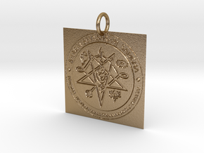 Creator Pendant in Polished Gold Steel: Extra Small