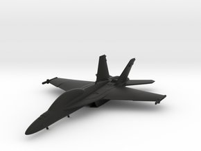 Boeing F/A-18F Super Hornet in Black Natural Versatile Plastic