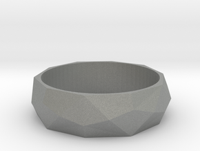 Ring with beautiful poly pattern for man and women in Gray Professional Plastic: 6.5 / 52.75