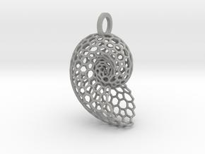 Voronoi Shell Pendant in Aluminum