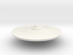 2500 TOS Saucer v2 in White Natural Versatile Plastic