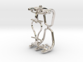 Hearts Cage Necklace-40 in Platinum