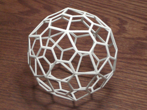Pentagonal Hexecontehedron, large in White Strong & Flexible