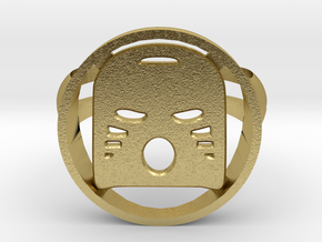 Order of Mata Nui Ring in Natural Brass