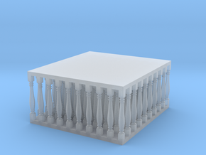 Baluster 02. HO Scale  (1:87) in Smooth Fine Detail Plastic