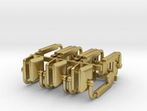 (6) MODERN POWER ADJUST MIRROR SETS - BR in Natural Brass