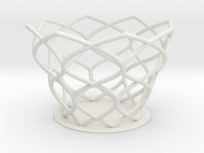 Flower Cup 0 in White Natural Versatile Plastic