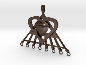 Extra large Pi Heart for arts and crafts in Polished Bronze Steel: Extra Large