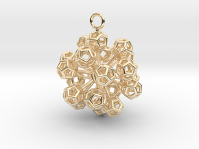 Dodecahedrons at vertex earrings in 14K Yellow Gold