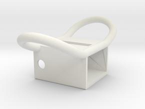 Apollo A7L Lower Torso PLSS Strap Attachment Brack in White Natural Versatile Plastic