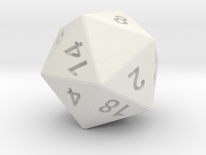 D20 Dice Custom Letter, Choose Letters you want! in White Natural Versatile Plastic