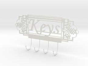 Keys Holder in White Natural Versatile Plastic