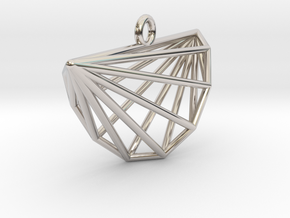 Intricate Cyclic Polytope Pendant in Rhodium Plated Brass
