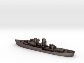 Flower Class corvette 1:1200 GBR WW2 naval in Polished Bronzed-Silver Steel
