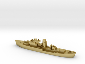 Flower Class corvette 1:1200 GBR WW2 naval in Natural Brass