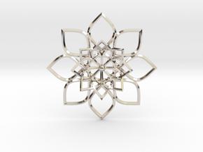 Hypatia's Flower Pendant in Platinum