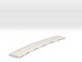 p-165stw-slim-curved-1r-tram-track in White Natural Versatile Plastic