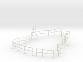 "1/72 USN Fletcher Roof Railing ""Round Bridge"" v1 in White Natural Versatile Plastic"