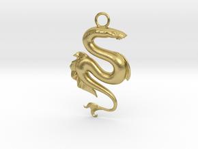 Lamprey Pendant in Natural Brass