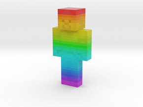 Rainbow_Steve | Minecraft toy in Natural Full Color Sandstone