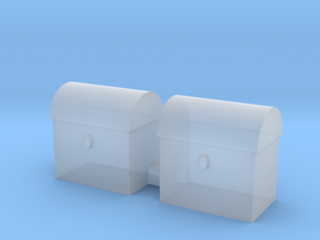 tool box 10mm high 10mm wide 7 mm deep in Smooth Fine Detail Plastic