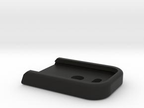 WE/TM Glock17/18 magazine base plate in Black Natural Versatile Plastic
