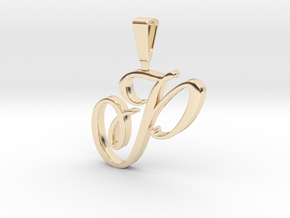 INITIAL PENDANT P in 14k Gold Plated Brass