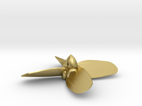 "HO 10' 6"" four blade built-up propeller in Natural Brass"