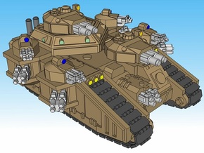 3mm StormMallet Superheavy Tanks (2pcs) in Smooth Fine Detail Plastic