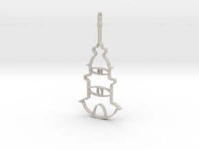 Tower Necklace-46 in Natural Sandstone