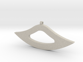 Geometric Necklace-52 in Natural Sandstone