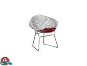 1:12 Miniature Diamond Chair - Harry Bertoia in Smooth Fine Detail Plastic: 1:12