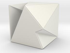 prism collapse in White Natural Versatile Plastic: Small