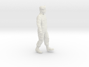 1/24 Modern Unif Beret Fig402-01 in White Natural Versatile Plastic