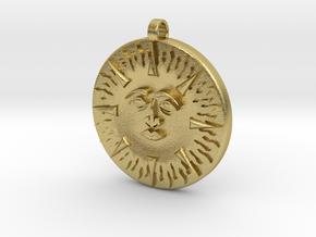 Sun&Moon in Natural Brass