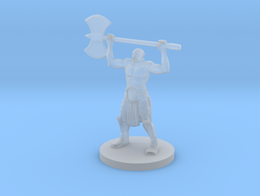 Half Orc Barbarian  raging in Smooth Fine Detail Plastic