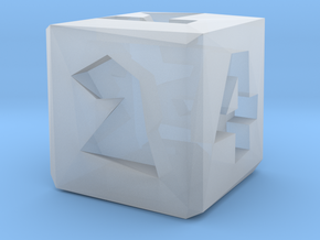 Low Poly Die in Smooth Fine Detail Plastic: Small