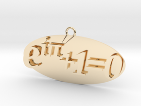 Euler identity Equation earring or pendant  in 14k Gold Plated Brass