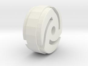 45 Vinyl Inner Axle Insert for Mouse Trap Car in White Natural Versatile Plastic