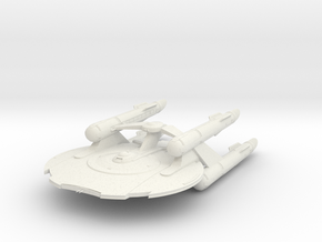 "Europa Class Cruiser 3.8"" long in White Natural Versatile Plastic"