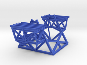 Keck Telescope Pier (1:170) in Blue Processed Versatile Plastic