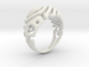 "Ring ""Wave"" in White Natural Versatile Plastic"