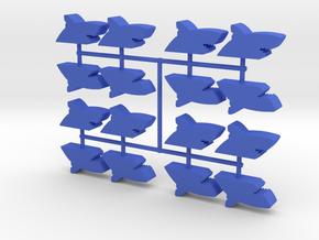 Custom Order, Shark, Large, 16-set in Blue Processed Versatile Plastic